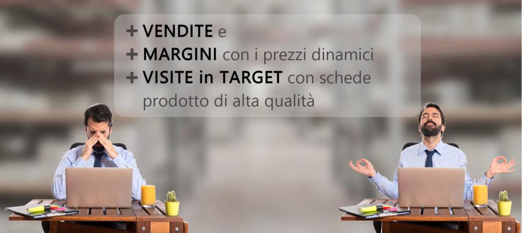 + margini + vendite + visite